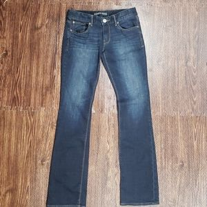 Express Jeans Stella Barely Boot Sz 4R Low Rise
